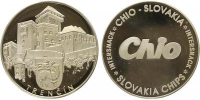 Slovenská Republika, číslovaná medaile b.l. - Trenčín, PROOF