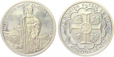 AR Medaile 1993 - Svatý Vojtěch / Břevnovský klášter, PROOF