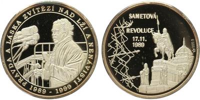AR Medaile 1999 - 10. výročí 17. listopadu, PROOF
