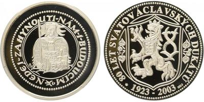 AR Medaile 2003 - Svatováclavské dukáty, PROOF