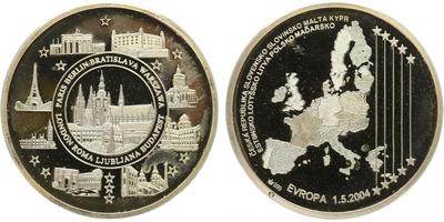 AR Medaile 2004 - Vstup České republiky do EU, PROOF