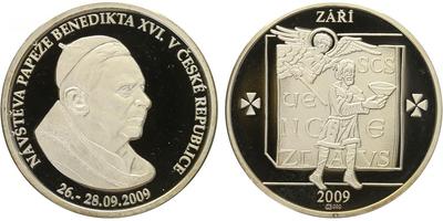 AR Medaile 2009 - Papež Benedikt XVI., PROOF