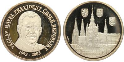 AR Medaile 2009 - Václav Havel, PROOF