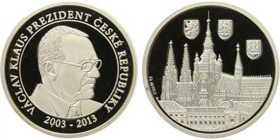 AR Medaile 2013 - Václav Klaus, PROOF