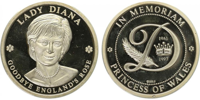 AR Medaile b.l. - Lady Diana, PROOF