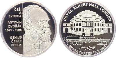 AR Medaile b.l. - Antonín Dvořák, PROOF