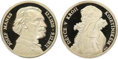 AR Medaile b.l. - Josef Mánes, PROOF