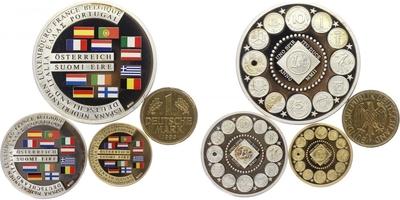 AR Medaile b.l. - Měna evropských států, PROOF