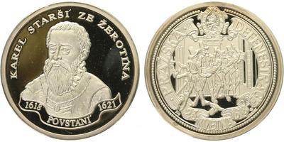 AR Medaile b.l. - Stavovské povstání - Karel Starší ze Žerotína, PROOF