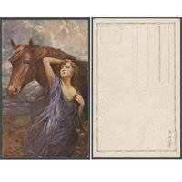 Fauna, zvířata - Dívka s koněm