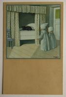 Umělecké, umění - Malířství, P. Ebner, Děti a kocour