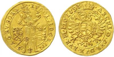 Rudolf II. - Dukát 1593, Praha - Ercker
