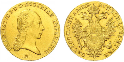 František II., Dukát 1818 B, Kremnice