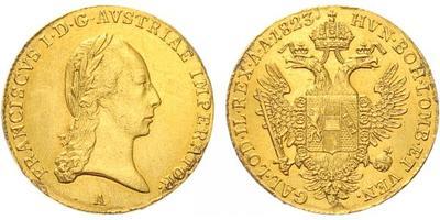 František I., Dukát 1823 A, Vídeň