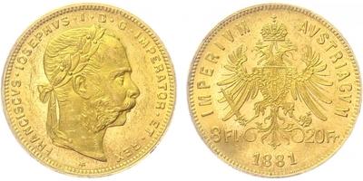 František Josef I. - 8 Zlatník 1881