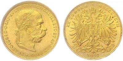 20 Koruna 1897, b.z.