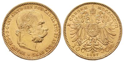 10 Koruna 1897 b.z.