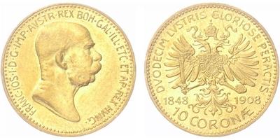 10 Koruna 1908 - jubilejní