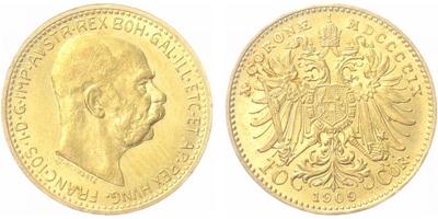 10 Koruna 1909 b.z., Schwartz