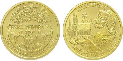 2000 Kč 2001 - Raná gotika - klášter ve Vyšším Brodě