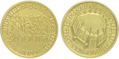 2000 Kč 2002 - Pozdní Gotika - Kašna v Kutné Hoře, bežná kvalita
