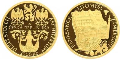 2000 Kč 2002 - Renesance - zámek Litomyšl, PROOF