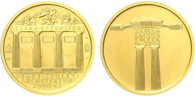 2000 Kč 2004 - Empír - zámek Kačina, etue a certifikát, bežná kvalita
