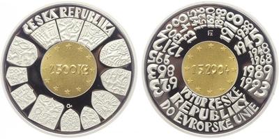 2500 Kč 2004 - Vstup České republiky do Evropské unie, PROOF