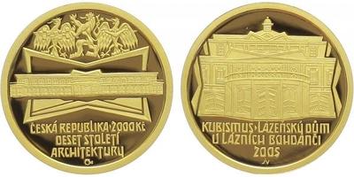2000 Kč 2005 - Kubismus - Lázeňský dům v Lázních Bohdaneč, PROOF