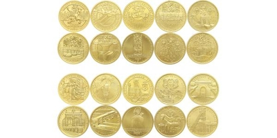 Sada 10 kusů mincí 2006 - 2010  - Kulturní památky technického dědictví, Au 0,9999, 2