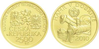2500 Kč 2010 - Hamr v Dobřívě, běžná kvalita