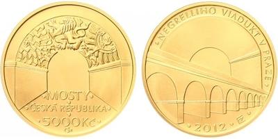 5000 Kč 2012 - Negrelliho viadukt v Praze, běžná kvalita