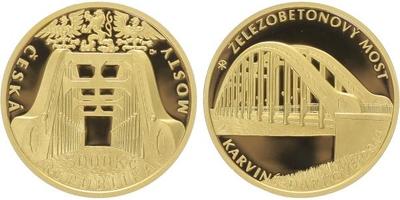 5000 Kč 2014 - Železobetonový most v Karviné - Darkově, PROOF