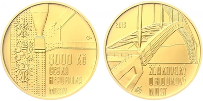 5000 Kč 2015 - Žďákovský obloukový most, běžná kvalita