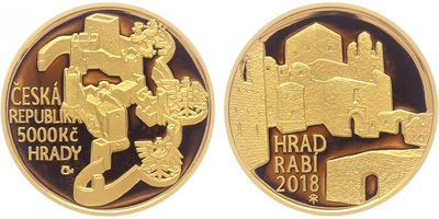 5000 Kč 2018 - Hrad Rabí, PROOF