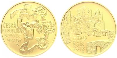 5000 Kč 2018 - Hrad Rabí, běžná kvalita