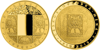 10000 Kč 2019 - 100. výročí zavedení československé měny, PROOF