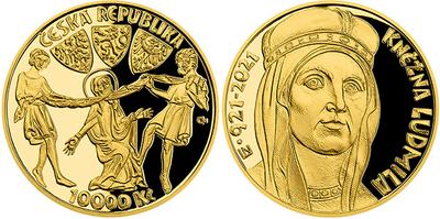 10000 Kč 2021 - 1100. výročí úmrtí kněžny Ludmily, PROOF