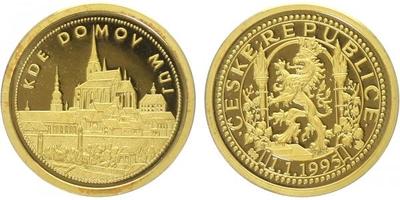 AR Medaile 1995 - Kde domov můj - Plzeň, PROOF