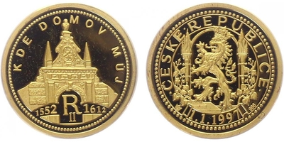 AR Medaile 1997 - Kde domov můj - Rudolf II., PROOF