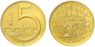 Medaile 1996 - Motiv 5 Kč / Mincovní město Kutná Hora, běžná kvalita