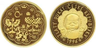 Medaile 1996 - Dukát České republiky, PROOF