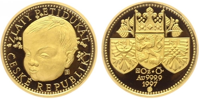 Pětidukát 1997 - Zlatý pětidukát české republiky, PROOF