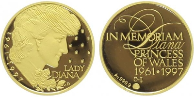Medaile 1997 - Lady Diana, PROOF