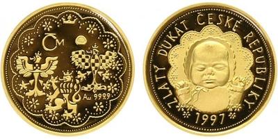 Dukát 1997 - Zlatý dukár České republiky 1997, Au 0,986, PROOF