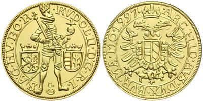 Dukát 1997 - Rudolf II., Au 0,986 (3,49 g), běžná kvalita