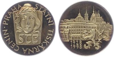 Medaile 1998 - Státní tiskárna cenin Praha, PROOF