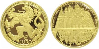 Medaile (EURO 100) 1999 - Praha - Metropole středověké Evropy, PROOF
