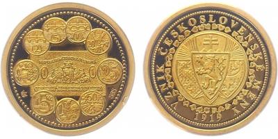 Medaile 1999 - Zavedení československé měny 1919, PROOF