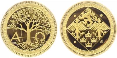 Pětidukát ČR 2002, Au 0,9999 (15,56 g), průměr 28 mm, kapsle, etue, certifikát, PROOF